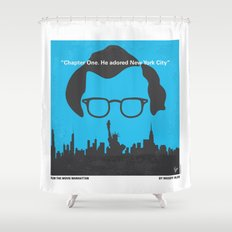 No146 My Manhattan minimal movie poster Shower Curtain