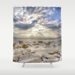 Birling Gap Seven Sisters Angel Light Shower Curtain