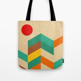 geometric landscape Tote Bag