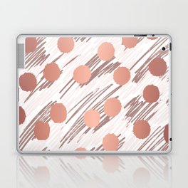 Scratch and Dot abstract minimalist copper metallic art and patterned decor Laptop & iPad Skin