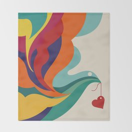 Love Message Throw Blanket