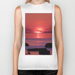 Sunset Ripples Biker Tank