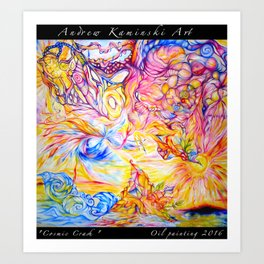 Cosmic Crash - Andrew Kaminski Art - Print of Oil Painting Art Print