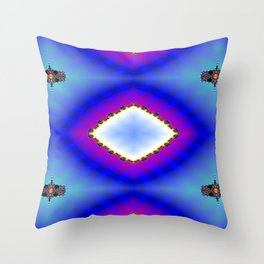 Step Back Fractal Pattern 2 Throw Pillow
