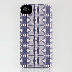 Navy and Cream Geometry iPhone (4, 4s) Slim Case