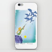 le petit prince iPhone & iPod Skins featuring Le Petit Prince by karicola