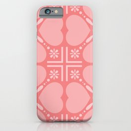 Happy valentine's concept seamless patterns with hearts iPhone Case
