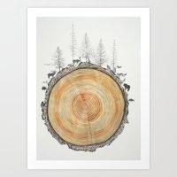 tree rings Art Prints featuring Tree Rings by dreamshade