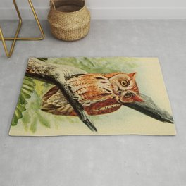 Vintage Illustration of an Owl (1912) Rug