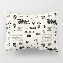Railroad Symbols // Beige Pillow Sham