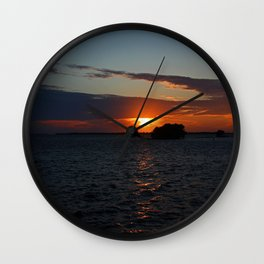 Daylight Coming to a Close Wall Clock