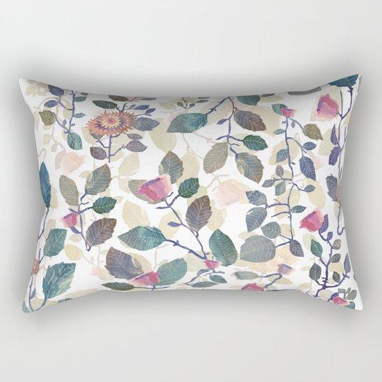 climb white leaves Rectangular Pillow