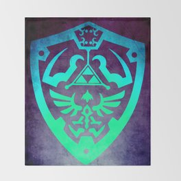 Zelda Shield Throw Blanket