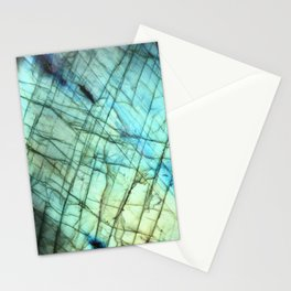Teal Labradorite Gemstone print Stationery Cards