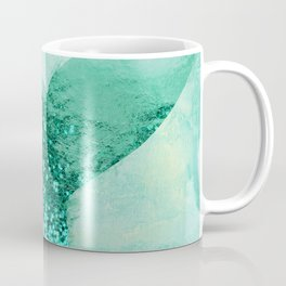 A Mermaid's Tail III, painterly coastal art, aqua metal Coffee Mug