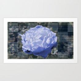 Blue Moon Rose and Me Art Print