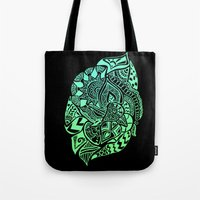 zentangle Tote Bags featuring Zentangle by Riaora Creations