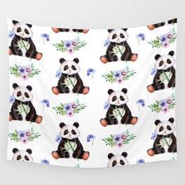 Garden Panda Wall Tapestry