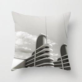 PAN PACIFIC AUDITORIUM BLACK AND WHITE Throw Pillow