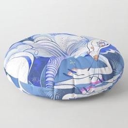 Cirrus - the cloud dog Floor Pillow