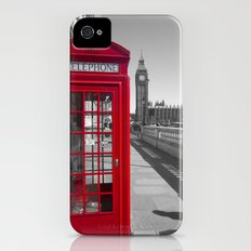 Big Ben and Red telephone box iPhone (4, 4s) Slim Case
