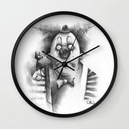 The Inner Demon of a Sad Clown Wall Clock