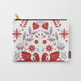 Nordic Folk Birds Carry-All Pouch