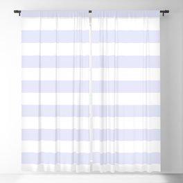 Light Lavender & White Stripe Pattern Blackout Curtain