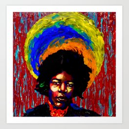 Hendrix Painted Portrait Art Print