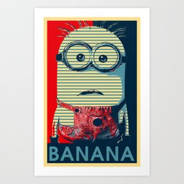 Minion banana Art Print