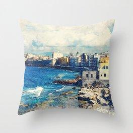 Trapani art 19 Sicily Throw Pillow