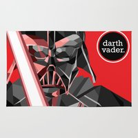 darth vader Area & Throw Rugs featuring darth vader by daydreamer89