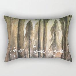 Ombre Forest Rectangular Pillow