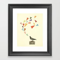 Pigeon Radio Framed Art Print