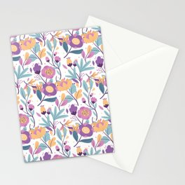 Colorful Exotic Floral pattern Stationery Cards