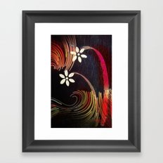 Swirly Girly Framed Art Print