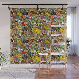 Graffiti seamless texture Wall Mural