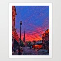 Trinity Street Sunset Art Print