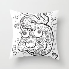 The Golden Eel (in Black) Throw Pillow