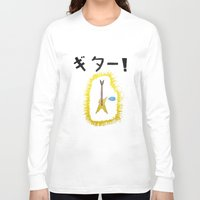 guitar Long Sleeve T-shirts featuring GUITAR! by StuartWallaceArt