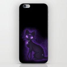 Purple Eyed Cat iPhone & iPod Skin