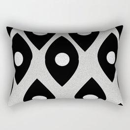 Black and White Pattern Fish Eye Design Rectangular Pillow