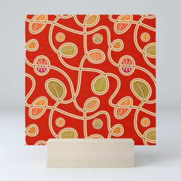 Scribbles & Loops (pattern) Mini Art Print