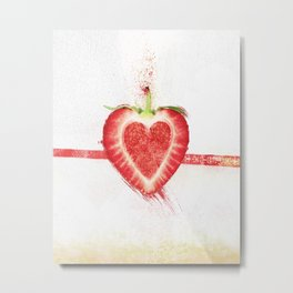 Stawberry Metal Print