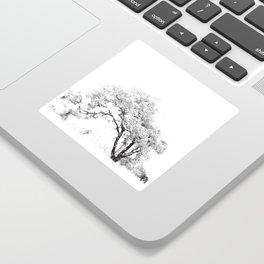 Tree art print Sticker