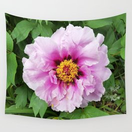 Rose and mauve peony with a heart of gold Wall Tapestry