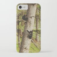 climbing iPhone & iPod Cases featuring Climbing Cubs by Kevin Russ