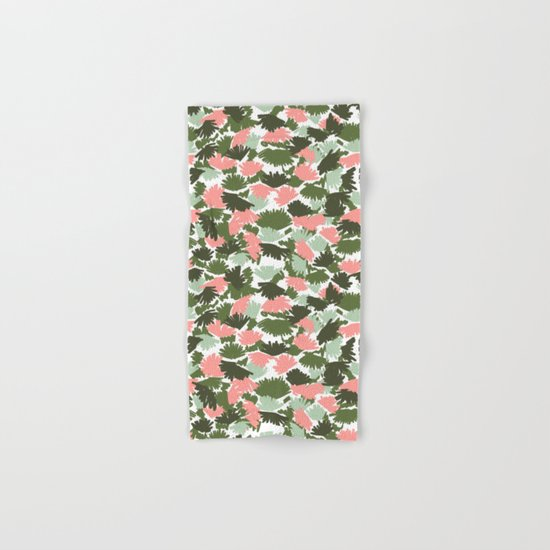 Flowers pastel pink painting watercolor abstract minimal gender neutral florals nursery baby kids Hand & Bath Towel