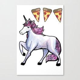 unicorn pizza love Canvas Print