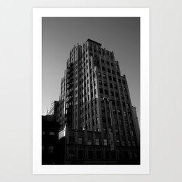 Down to the Sleeping City Art Print